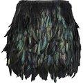 Preto galo coque pena saia comprimento mini, totalmente double layer tecido alinhado, 8 tamanhos disponíveis, frete grátis #781