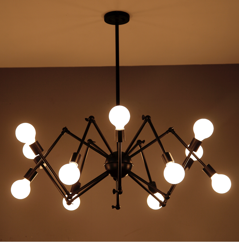 Oroa Modern Suspension Spider Pendant Lights With 6/8 Heads Loft Industrial Satellite LED Pendant Lamps For Living Room & BarOroa Modern Suspension Spider Pendant Lights With 6/8 Heads Loft Industrial Satellite LED Pendant Lamps For Living Room & Bar