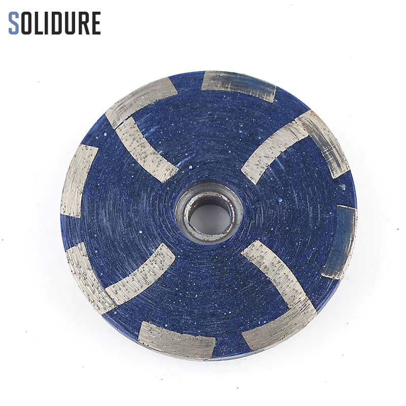 4 Inch 100mm Resin Filled Diamond Grinding Disc Cup Wheels Grinding Iron Backer For Grinding Stone,concrete And Tiles