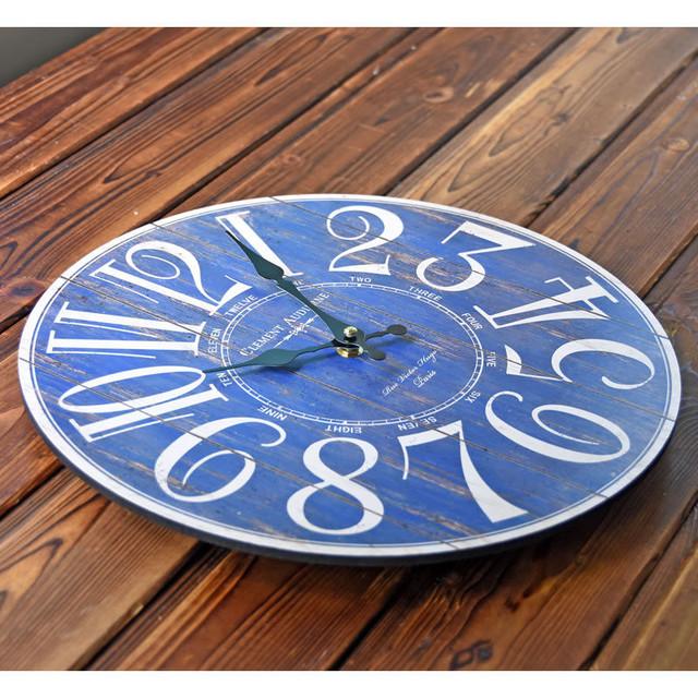 2017 European Style Wall Clock Vintage Creative  Round Wood Wall Clock  Kitchen Clocks Decoration Decor