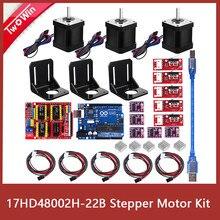 3d priter/kit de motor deslizante, a4988 driver + placa uno r3 + rampas 1.4 interruptor endstop + drv8825 motorista do motor + nema 17 motor