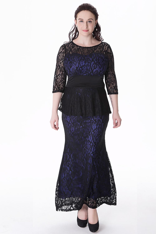 Women Party Dress Plus Size Xl 6xl Hollow Out Lace Dress Bohemian