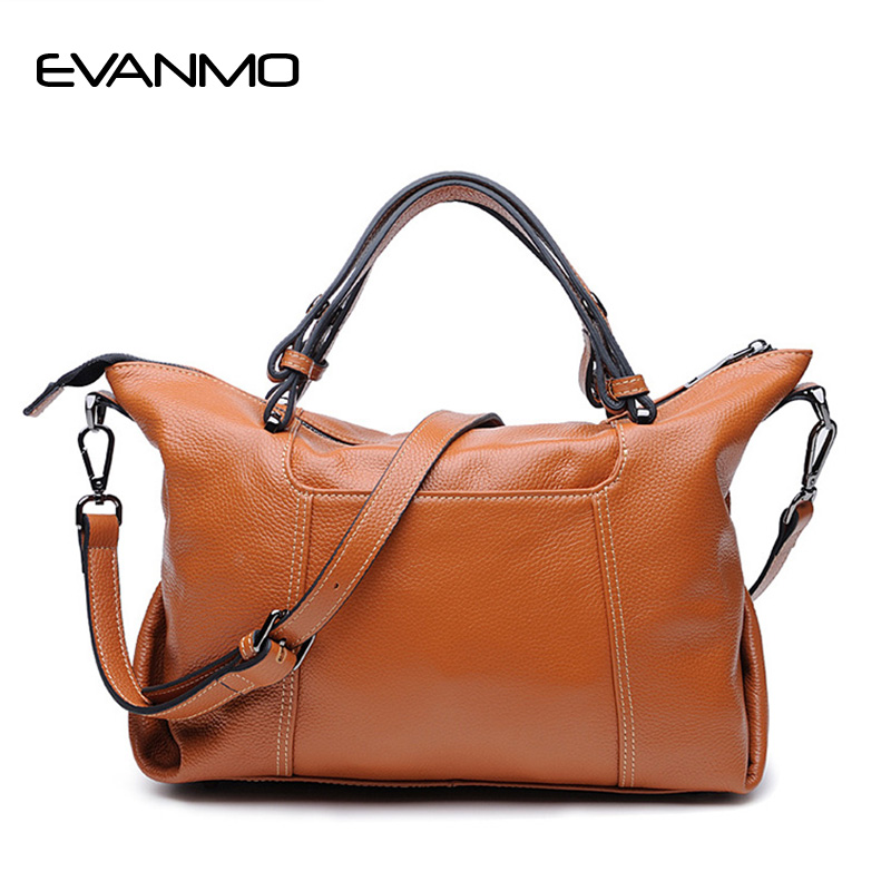 2017 Fashion Genuine Leather Handbag Zipper Luxury Brand Women Totes Bags Black Large Capacity Crossbody Shoulder Bags for Women
