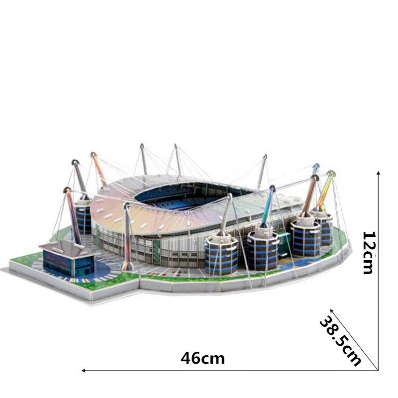 Classic Jigsaw Models England City of Manchester Etihad F.C. RU Football Game Stadiums DIY Brick Toys Scale Sets Paper