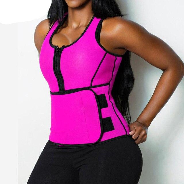 Neoprene Sauna Waist Trainer Vest Hot Shaper Summer Workout Shapewear Slimming Adjustable Sweat Belt Fajas Body Shaper