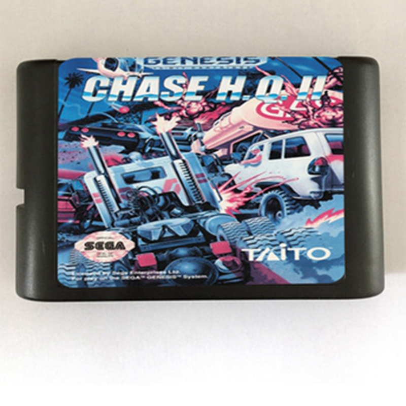 Chase H.Q.II Game Cartridge Newest 16 bit Game Card For Sega Mega Drive / Genesis System