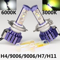 Dianshi 3000K 6000K 2 IN 1 30W H4 3 H4 H/L HIGH LOW CAR led headlight 3000LM H11 H7 9005 9006 HB3 HB4 led llight for toyota
