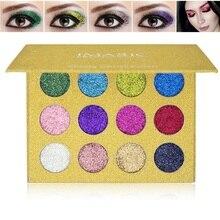 12 Colors Balm Makeup Pressed Glitter Eyeshadow Pallete Brand New Diamond Rainbow Foiled Eye Shadow Make up Palette