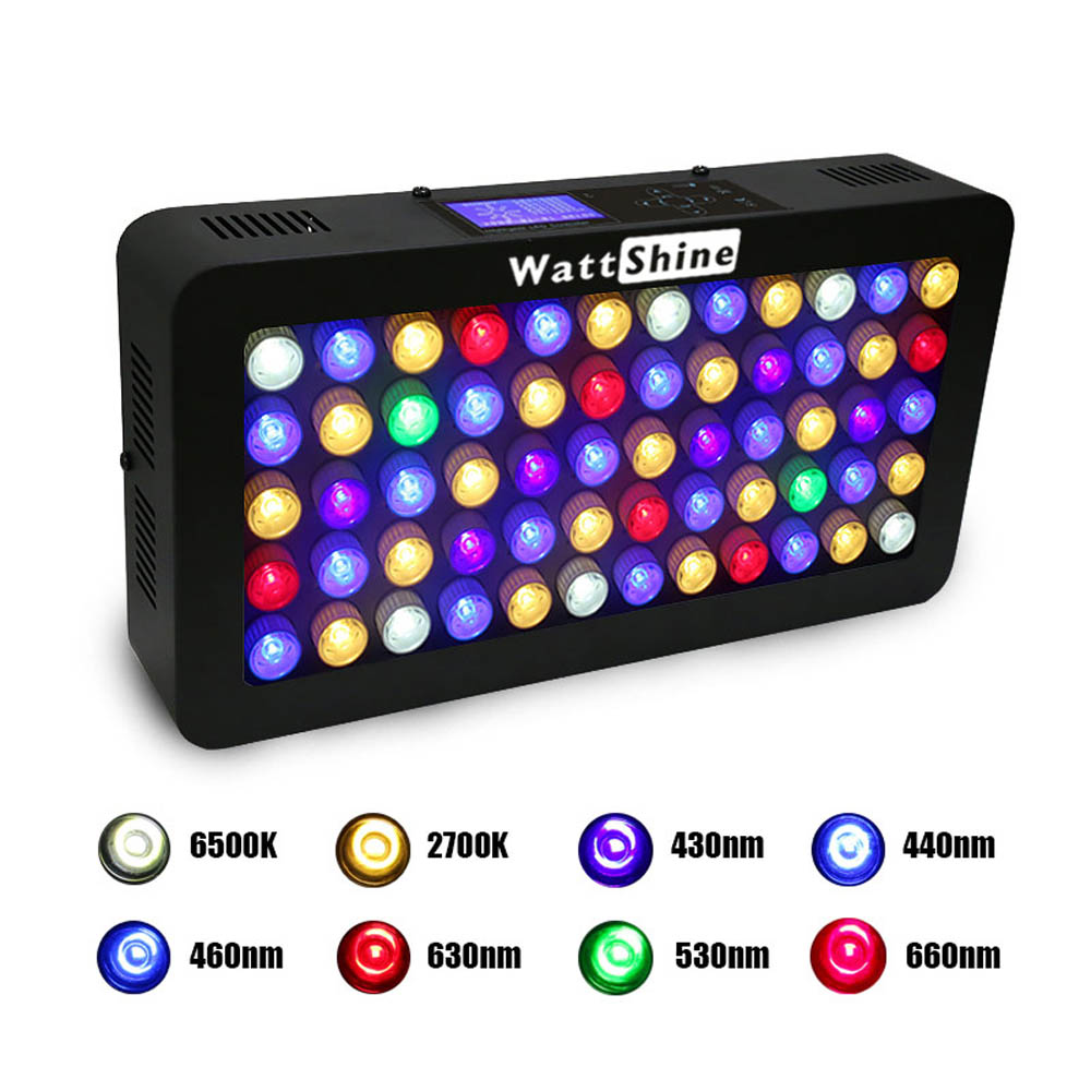 Remote or Touch control 180W LED Aquarium Light Timer Control Dimmable lamp Freshwater and Saltwater Coral Reef Grow Fish Tank (21)
