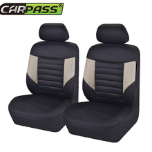 Car-pass  Car Seat Covers Sandwich 5 Color  Universal Blue Black Beige Red Gray Front Two  Auto Seat Cover Interior Accessories