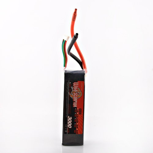 Wild Scorpion RC 14.8V 3000mAh 60C Li-polymer Lipo Battery Helicopter+free shipping цена и фото