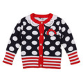 2015 autumn dot thickening cardigan baby clothing sweater female child outerwear