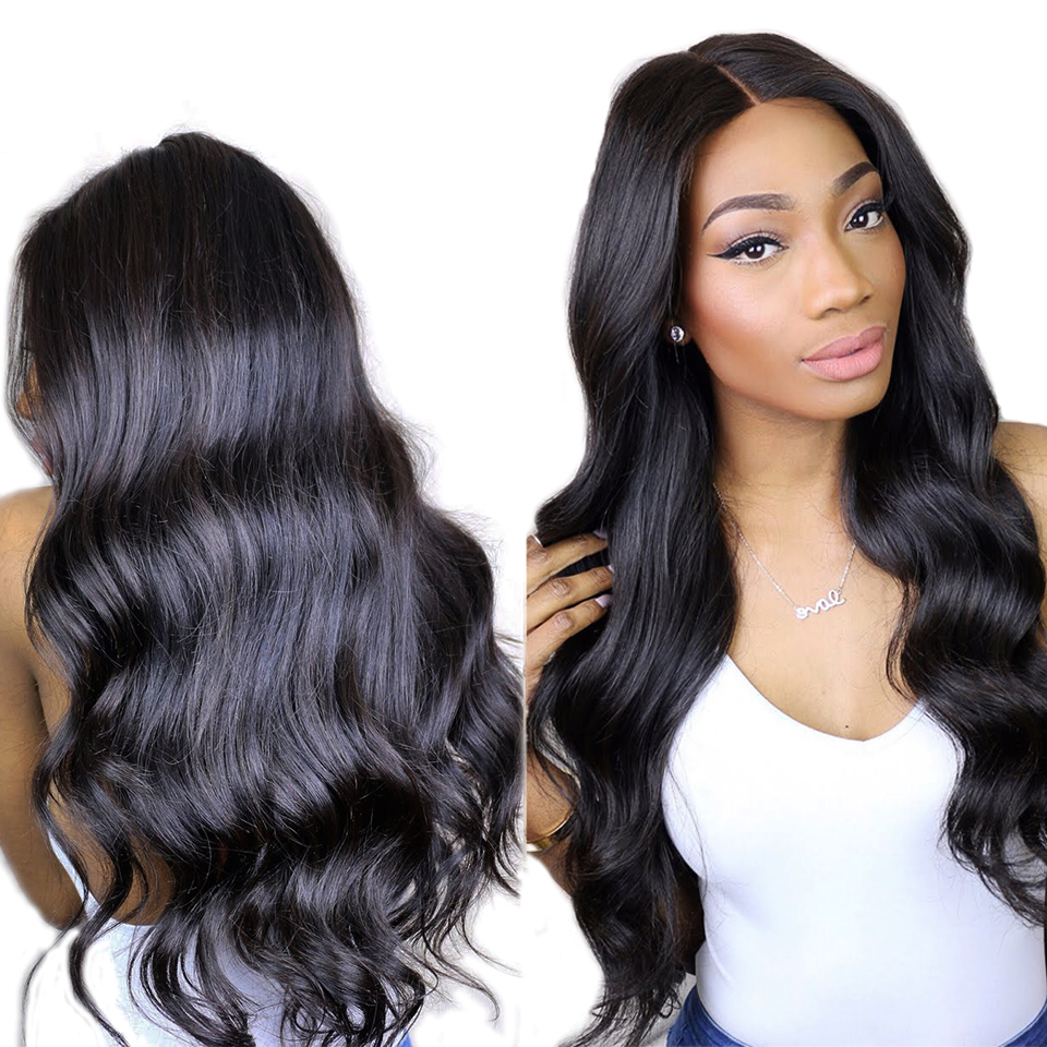 f0d0597ee Brazilian Hair 360 Lace Frontal Wig With Baby Hair Body Wave Full Lace  Front Human Hair Wigs For Black Women Pre Plucked Ilaria