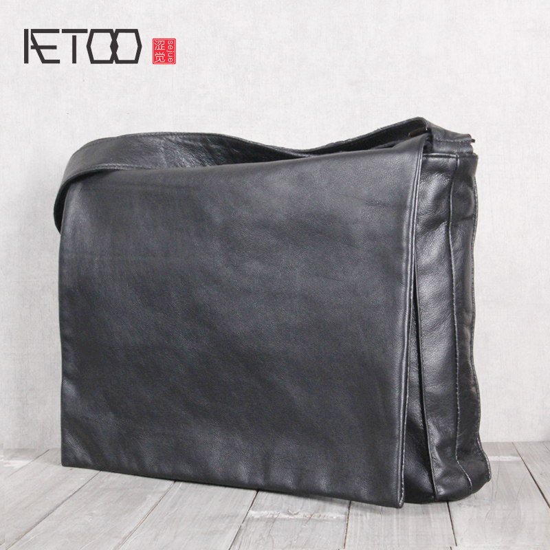 AETOO Mens leather single shoulder crossbody bag cowhide Casual bagAETOO Mens leather single shoulder crossbody bag cowhide Casual bag