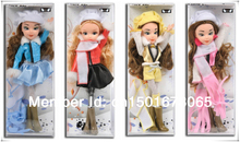 Newest Christmas Fashion doll set 4 piece Action figure with box for children and adult gift! Most areas Free shipping