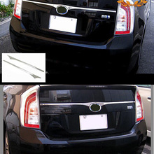 JY SUS304 Stainless Steel Rear Emble Garnish Trim Upper Car Styling Accessories For Toyota Prius ZVW30
