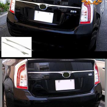 JY SUS304 ze stali nierdzewnej z tyłu Emble dekoracji wykończenia górne akcesoria samochodowe do stylizacji dla Toyota Prius ZVW30 tanie i dobre opinie