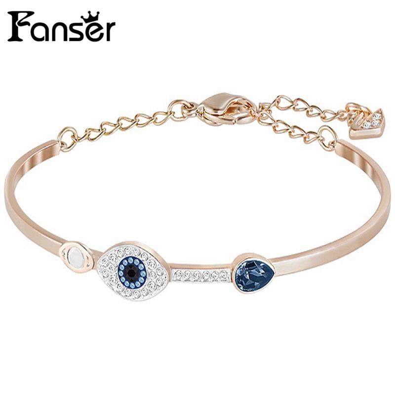 FANSER Duo Evil Eye BANGLE Blacelet Blue Mixed Color SWAR Original Copy Ladies Chain Foundation Manufacturer Wholesale Free Mail