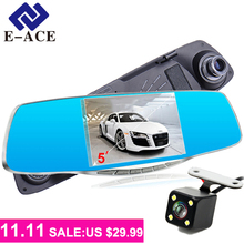 E-ACE 5.0 Inch Automobiles Video Camera 1080 P Full HD The Registrar Car Dvr Front And Rear Camera Mirror DVR Automotive Dashcam