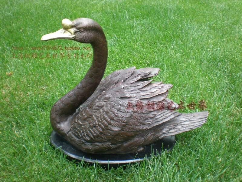Zwarte Zwaan ambachten relatiegeschenk Woninginrichting bronzen standbeeld boutique decoratie koper - 2