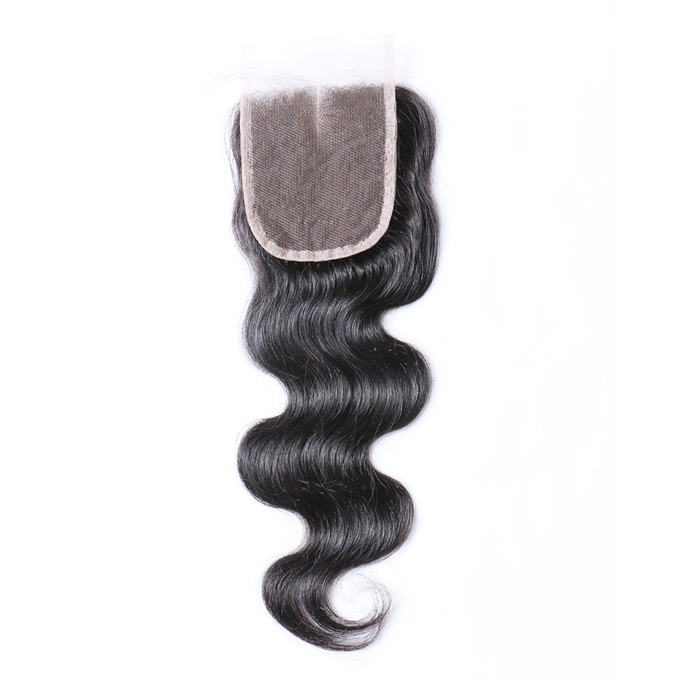 Malaysian Human hair Body Wave Closure Middle part
