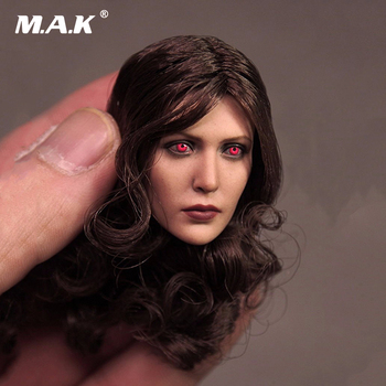 1:6 Scale Female Head Sculpt Scarlet Witch Red Eye Edition Elizabeth Olson Head Carving Model for 12