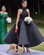 2020 уникальные дизайнерские черные платья подружки невесты
