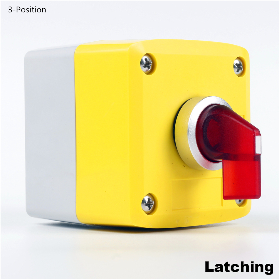 цены  Selector switch and BOX 1set 1NO 1NC 2NO 2NC Latching and Momentary 220VAC RED 2-3Position 5color AC DC waterproof IP65