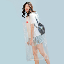 MEHONESTLY Fashion adult waterproof transparent plastic hooded women long raincoat hiking fishing mens clear outdoor rainwear