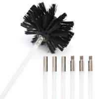 7 Piece/Set Chimney Brush Boiler Brush Set Household industrial chimney boiler dryer cleaning Dryer Duct Cleaning Kit