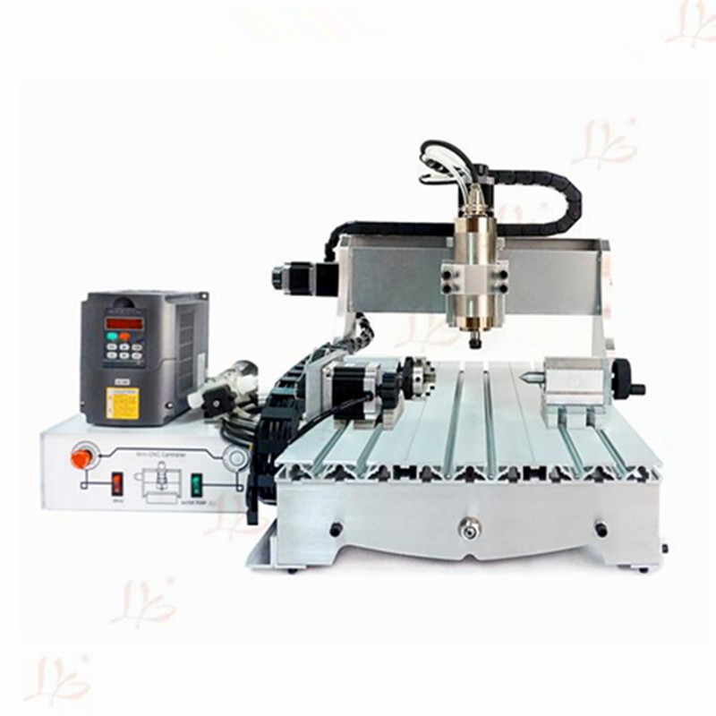 no tax to russia! mini CNC milling machine 3040 Z-S800 4axis 3D CNC lathe woodworking router with rotation axis eur free tax cnc 6040z frame of engraving and milling machine for diy cnc router