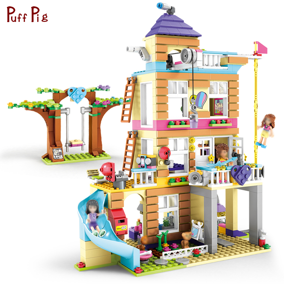 708pcs Girls Friends Heartlake Friendship Club House Building Block Toys Gift For Children Compatible Legoing Friends Bricks Set