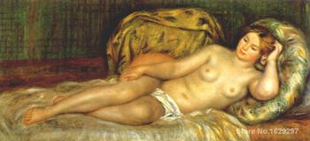 paintings on canvas Nude reclining on cushions by Pierre Auguste Renoir Reproduction High Quality Hand-painted