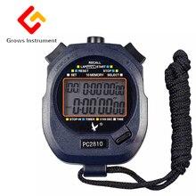 Stopwatch timer PC2810 10 student referee Tianfu three row 60 track and field ru