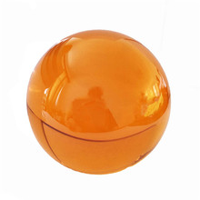 Magic Crystal Ball Amber Round Glass Without Base 40/50/60/70/80mm Crystal Healing Sphere For Home Wedding Decoration