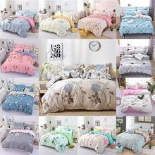 4PCS Duvet Cover Set Fashion Family Bedding Sets Luxury Flat Sheet Bedding Linings Pillowcase Cover Sets, No Filler 2019 Bed Set