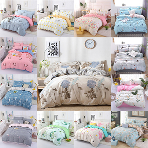 Image 1 - 4PCS Duvet Cover Set Fashion Family Bedding Sets Luxury Flat Sheet Bedding Linings Pillowcase Cover Sets, No Filler 2019 Bed Set