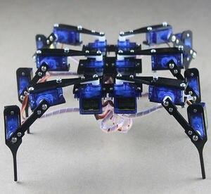 Робот-паук 18 DOF с 6 ногами, Hexapod 4 RC, мини-Роботизированная рама, шасси для Arduino 9g, сервоконтроль, DIY игрушка, обучающая Projec