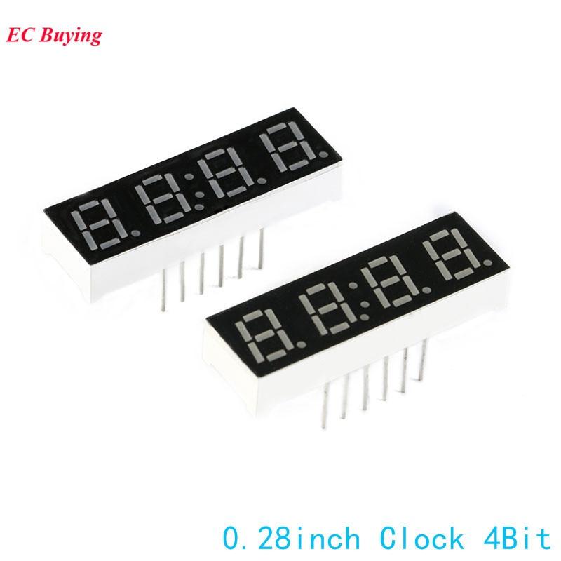 10 шт. 7-сегментный светодиодный 0.28 дюймов 4 бит сегмент Дисплей красный цифровой пробки Общий катод электронная доска DIY часы