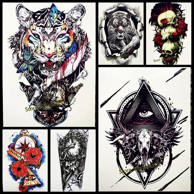 wald tiger breit tattoo wasserdicht schmetterling henna tattoo f r m nner. Black Bedroom Furniture Sets. Home Design Ideas