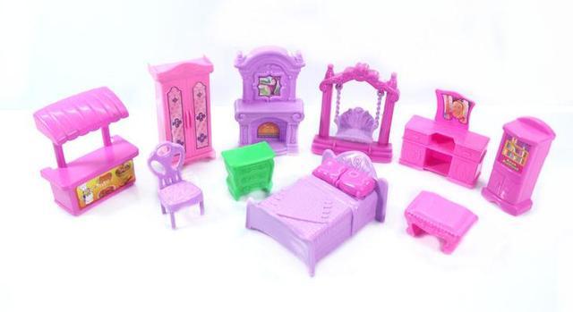 22 stuks sets poppenhuis meubels kinderen pretend play toys voor