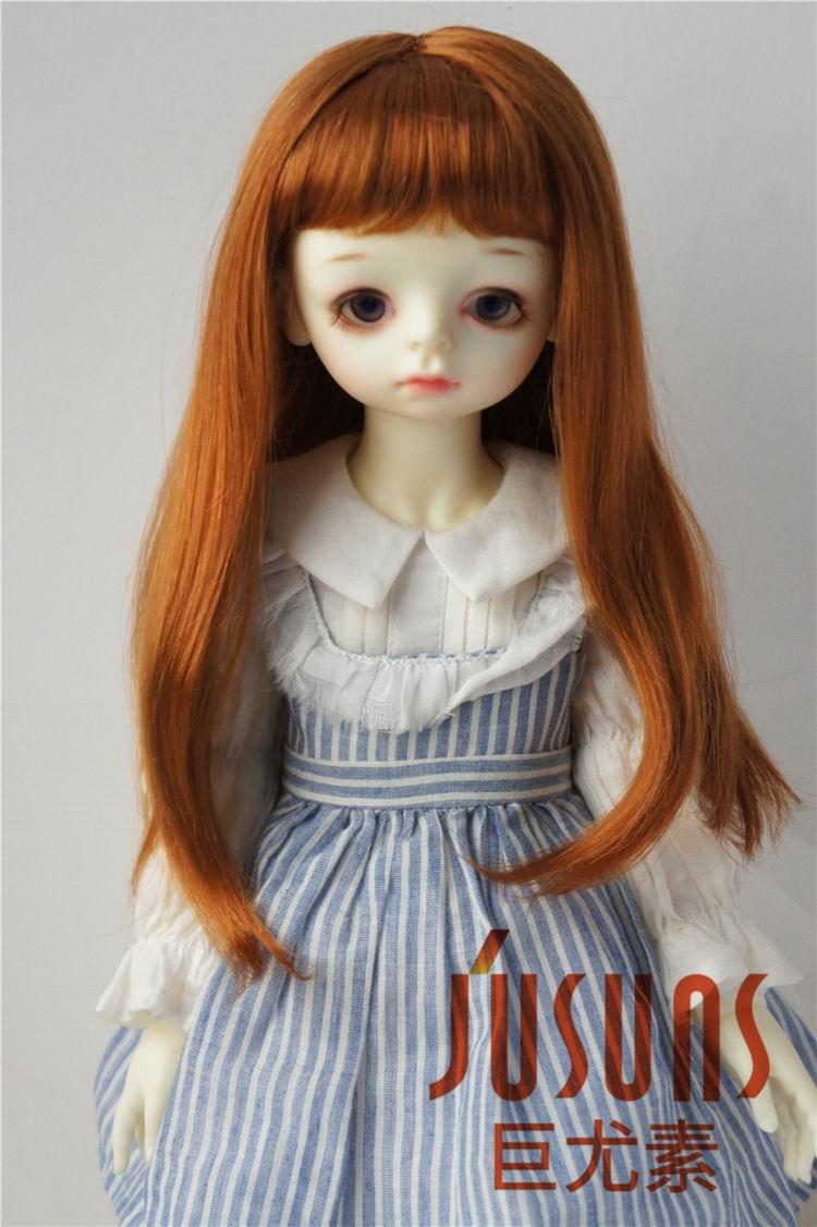3-wig set 8-9 inch Blond//Carrot//Brown Synthetic Mohair 1//3 BJD Doll SD Short Wig