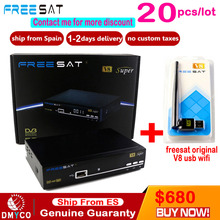 Freesat V8 Super DVB-S2 Satellite TV Receiver With USB Wifi Support PowerVu Biss Key clines Newcamd Youtube Youporn Set Top Box