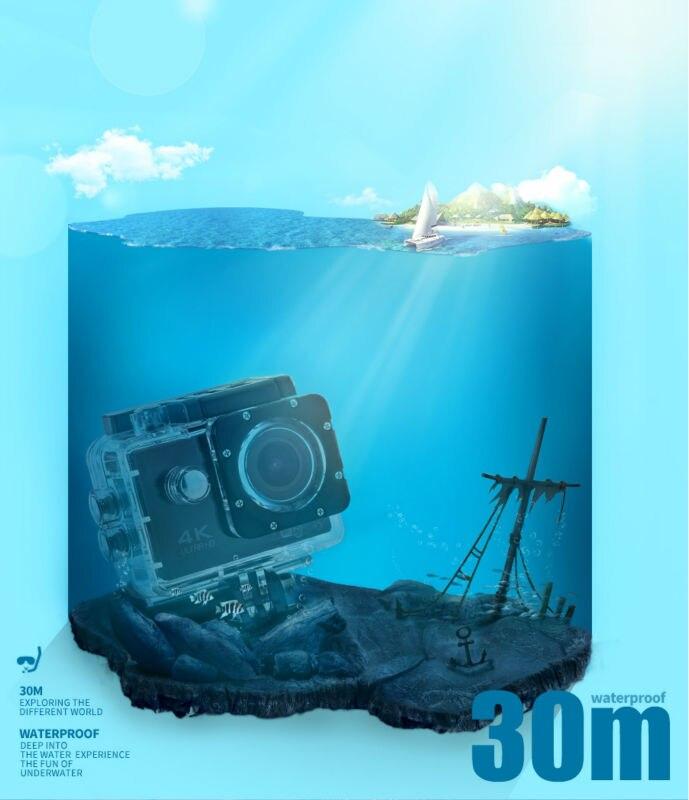 Image 4 - ELECTSHON Remote Control Sport Wifi Camera 4K/30f 16MP Digital Video Recorder 30m Underwater Camera Waterproof Cam Helmet Camera-in Consumer Camcorders from Consumer Electronics