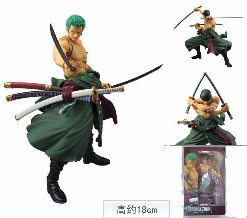 MegaHouse One Piece Roronoa Zoro PVC Action Figure Collectible Model Toy 18cm KT1712 megahouse variable action heroes one piece roronoa zoro pvc action figure collectible model toy 18cm opfg508