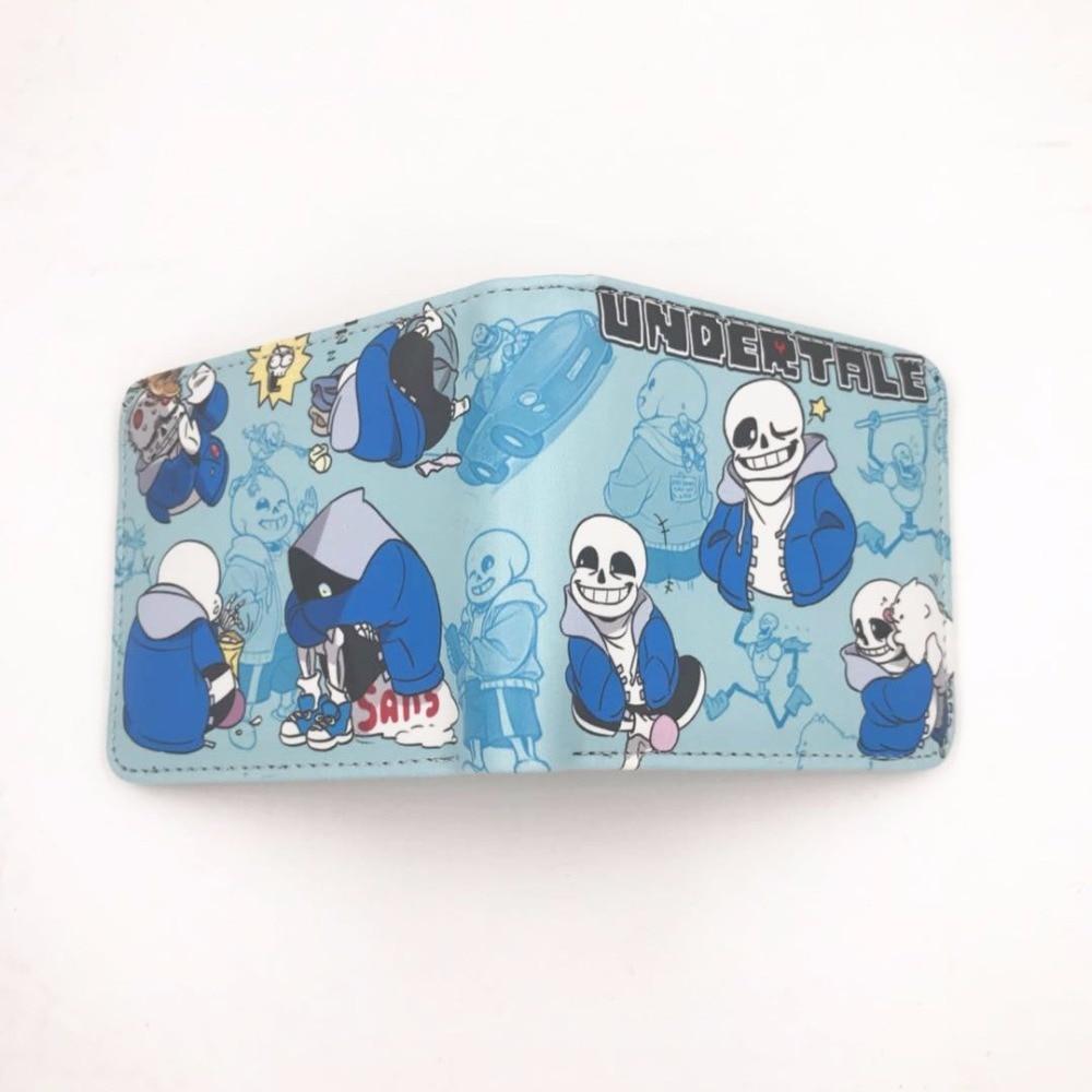 Undertale Papyrus Sans Wallets Leather Pu Folding Wallet Short Purse Gift New