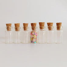 50pcs/lot 1ml clear corked glass bottle 12*24*6mm Home crafts jar DIY cork wishing small Essential oil