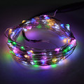12V DC 10m 100leds Silver Wire Waterproof Led String Christmas Lights  for Holiday/Party Decoration with power supply