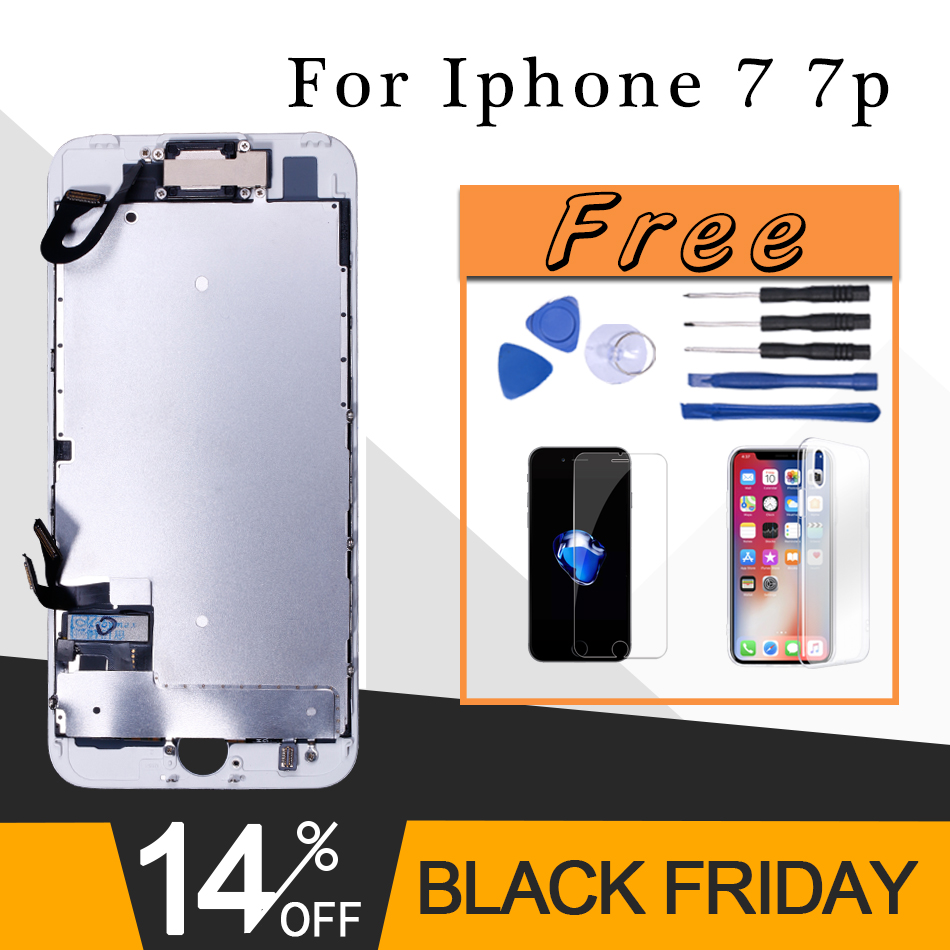 Assemblage complet pour iPhone 7 lcd ou affichage complet pour iPhone 7 7 Plus avec écran tactile 3D et caméra frontale + Kits d'outils