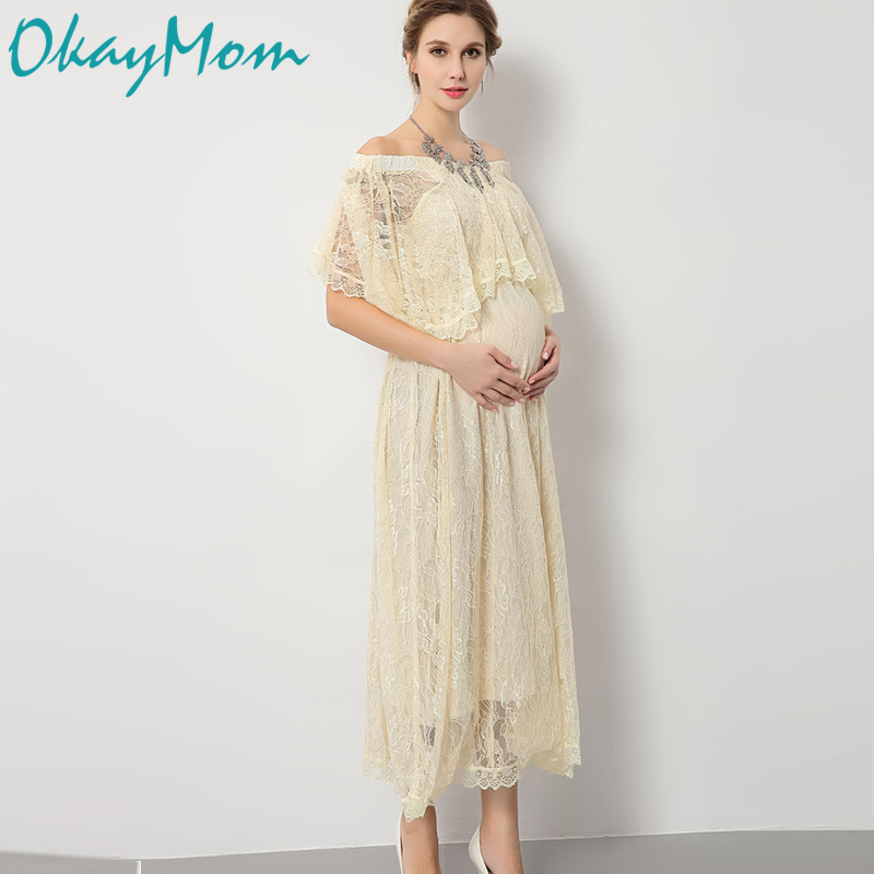 Maternity Photography Props Pregnancy Wear Elegant Lace Party Evening Dresses Clothes 2017 Maternity Clothing For Photo Shoots 500 mesh in 25 micron gauze water nylon filter mesh soya bean paint screen coffee wine net fabric industrial filter cloth